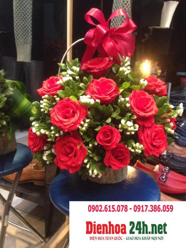 Giỏ hoa Tình Yêu