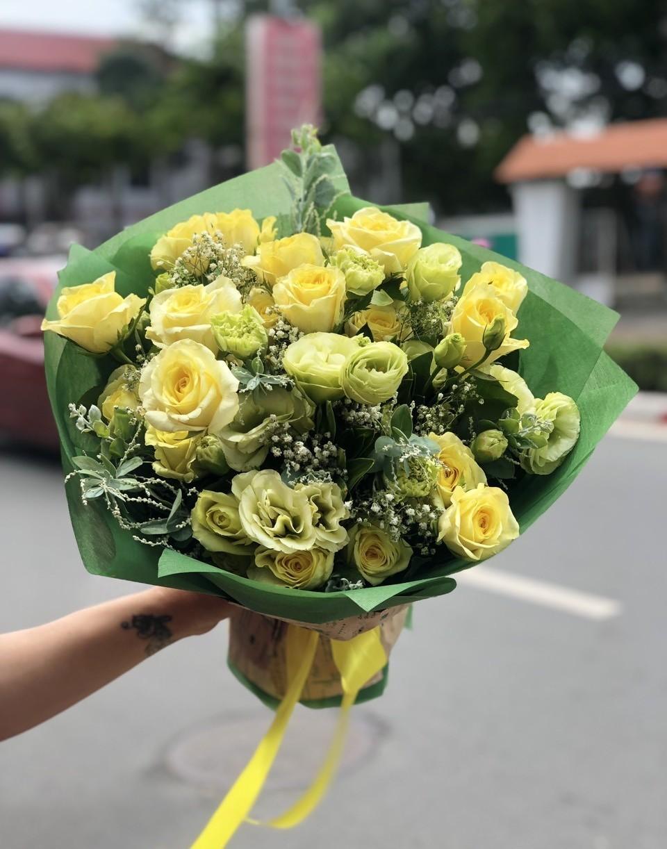 Bó Hoa Hồng Đẹp 001 Hoa sinh nhật đẹp độc đáo