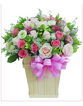 Kết quả hình ảnh cho Giỏ hoa đẹp